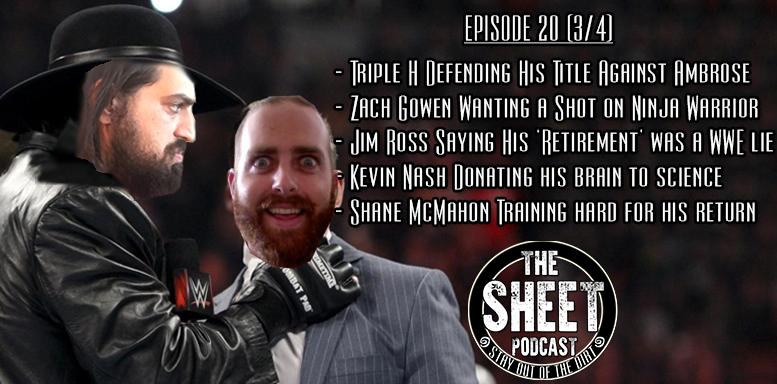 sheet podcast episode 20 pro wrestling ryan satin elijah bates kevin silva