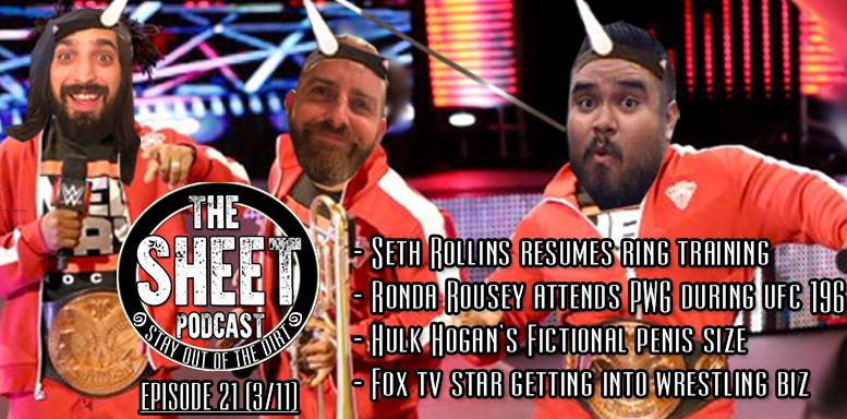 sheet podcast episode 21 pro wrestling ryan satin elijah bates kevin silva