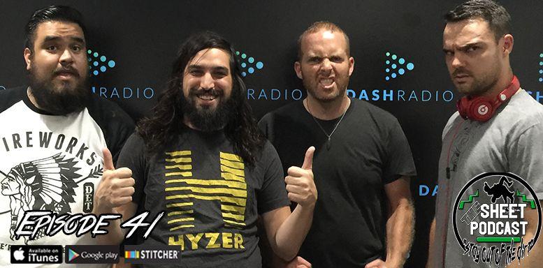 sheet podcast episode 41 ryan satin jamie iovine elijah bates kevin silva wrestling