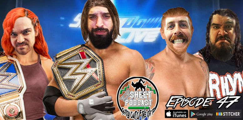 sheet podcast wrestling audio ryan satin jamie iovine elijah bates kevin silva