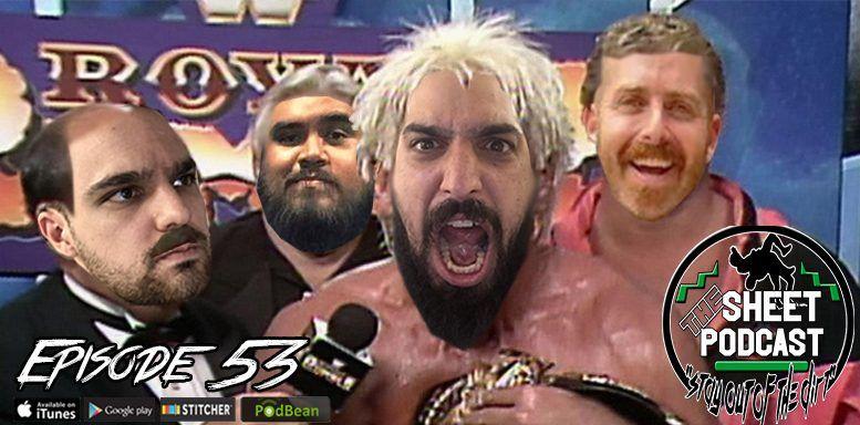episode 53 sheet podcast ryan satin pro wrestling elijah bates kevin silva