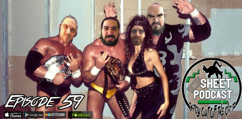 episode 59 sheet podcast ryan satin jamie iovine kevin silva elijah bates wrestling