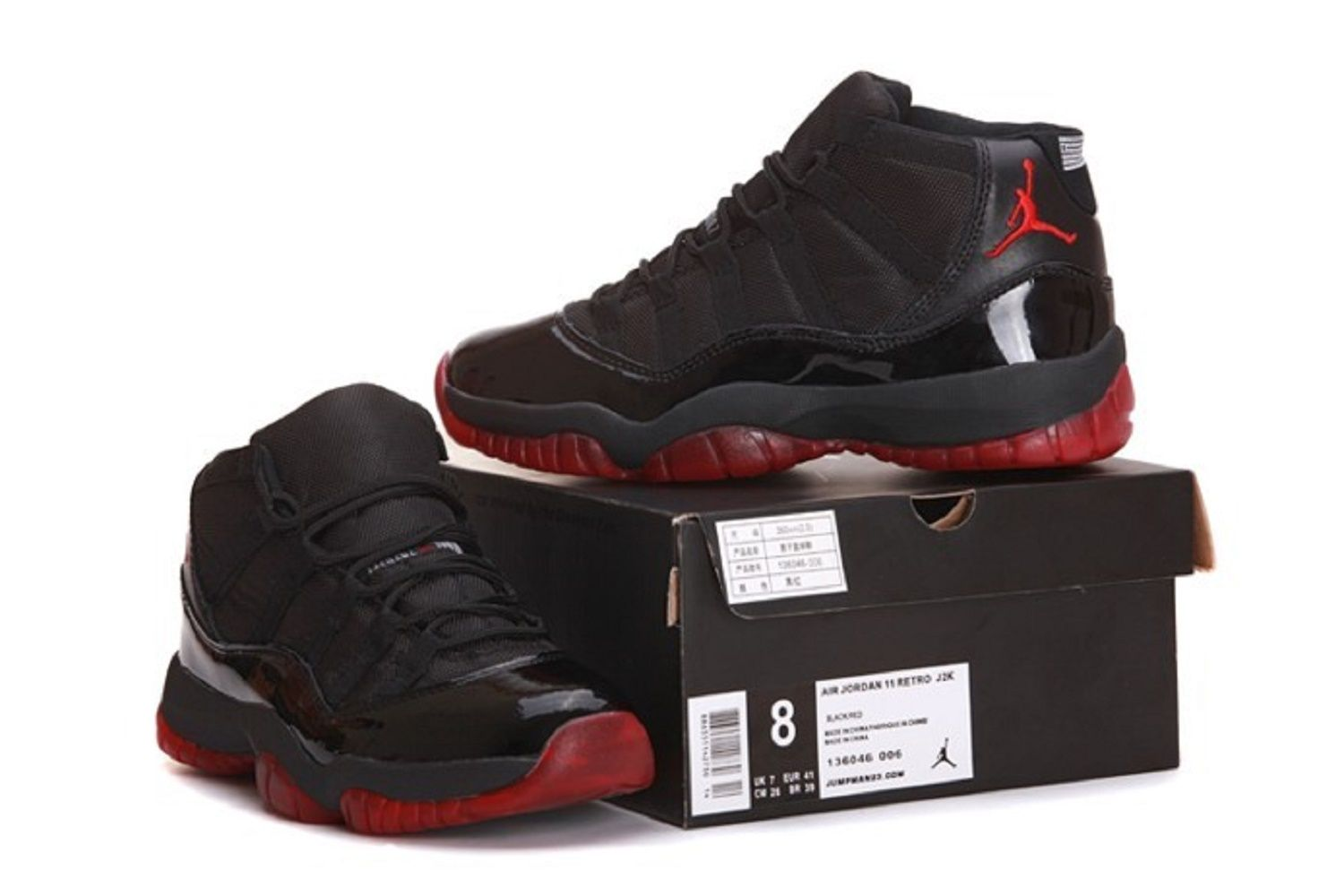 Air Jordan XI \\u2013 Black/Red. via centralstatesoil.com