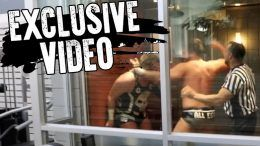ethan page elevator wrestling pro wrestlers brawl