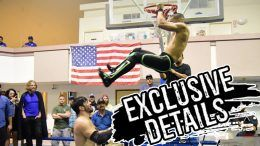 slam dunk wrestling move video outside dive danny limelight