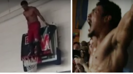 ar fox dive backboard rim above wrestling video