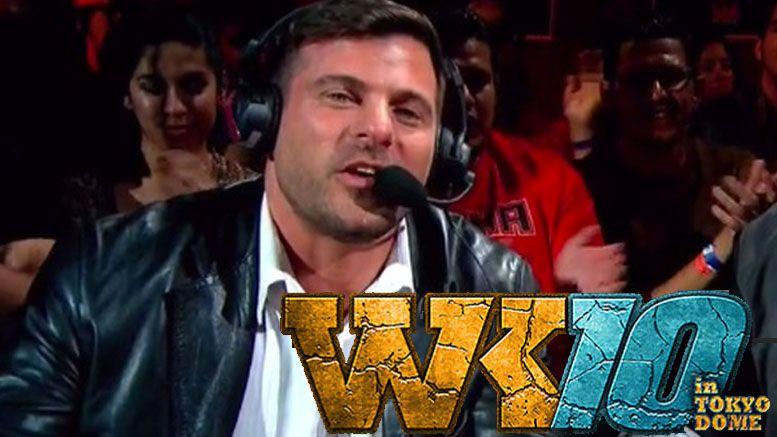 Matt Striker wrestle kingdom 10 commentary eat a dick