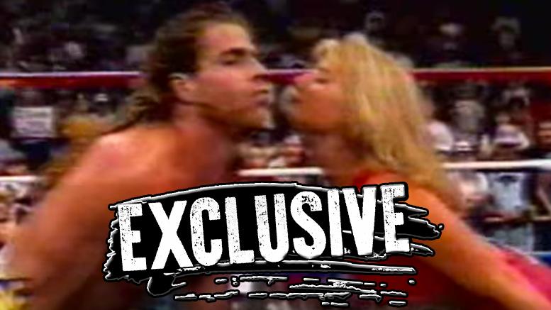 Shawn Michaels Sunny book tammy sytch vivid wwe wrestling kiss sex locker room