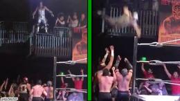 Aero star sxsw not injured crazy video dive lucha underground