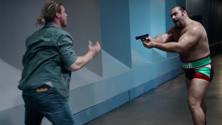Rusev Countdown trailer gun video dolph ziggler kane wwe wrestling movie