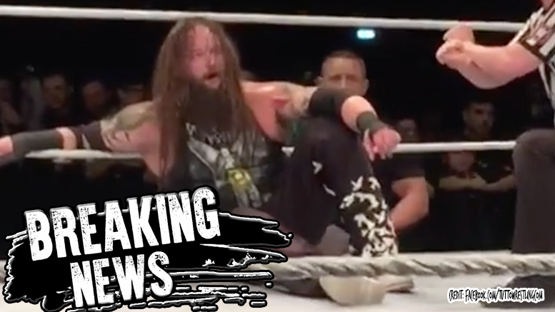 Bray Wyatt calf injured wwe wrestling wyatt family