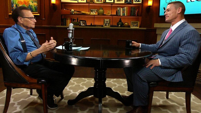 John Cena Larry King broom closet wrestlemania injury status wwe wrestling
