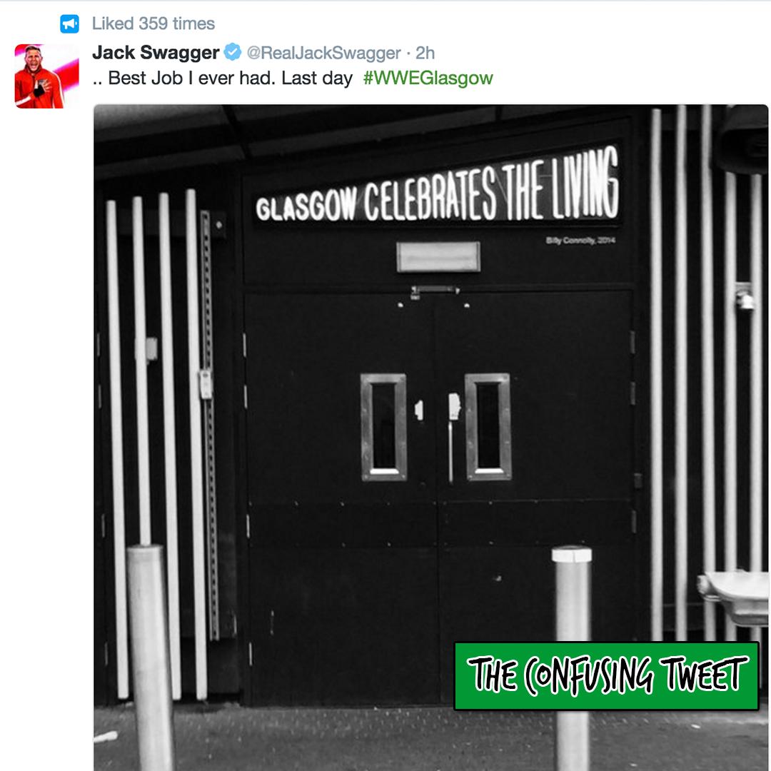 jack swagger last day tweet wwe wrestling
