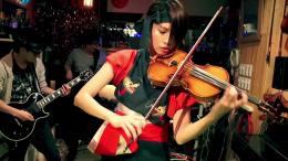 Shinsuke nakamura theme song violin player cover song video