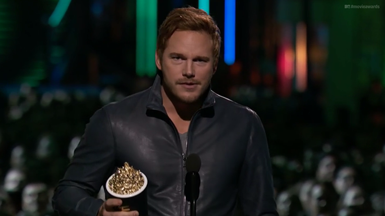 chris pratt thanks wwe legends video mtv movie awards wrestling