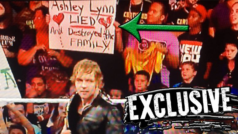 Ashley Lynn lied sign wwe wrestling raw