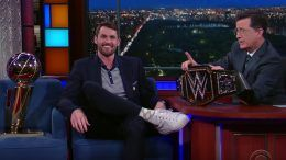 Kevin Love wrestling wwe finals win late show