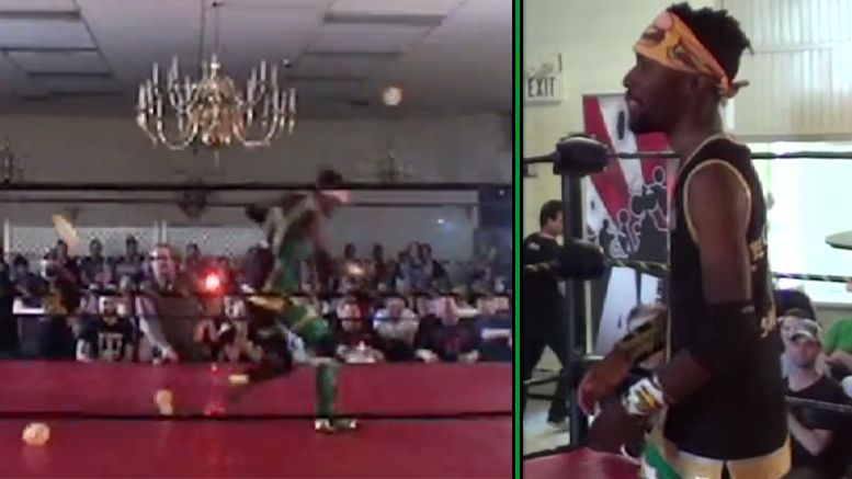 cheeseburger showered with burgers during entrance video roh wrestler wrestling