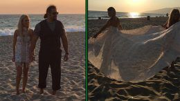 lana rusev wedding pictures malibu