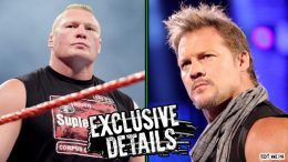 Chris Jericho Brock Lesnar backstage altercation summerslam argument wrestlers randy orton blood work hit me kiss me forehead