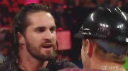 raw monday night fan taken down video seth rollins wwe wrestling wrestler