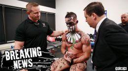 Finn Balor injured shoulder summerslam dislocation tear wwe doctors wrestling wrestler