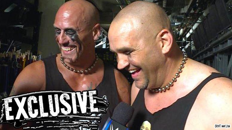headbangers one time appearance door open return wrestling wwe smackdown live video mosh thrasher chaz warrington glen ruth