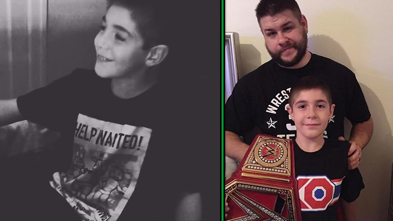 Kevin Owens son owen universal championship cute video adorable wife family reaction react