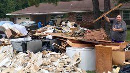 one man gang wrestling home flood fan help gofund me donations