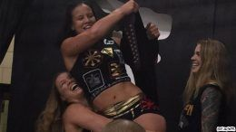 rousey ronda shayna baszler wins title aiw wrestling cleveland ufc 203