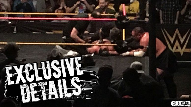 austin aries stitches not injured match ended shinsuke nakamura nxt fresno california