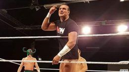 alberto del rio wcpw refuse to lose arm bandage wrapped cut stabbed knife wrestler wrestling