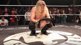 mark haskins progress title relinquishes title injury wrestling wrestler