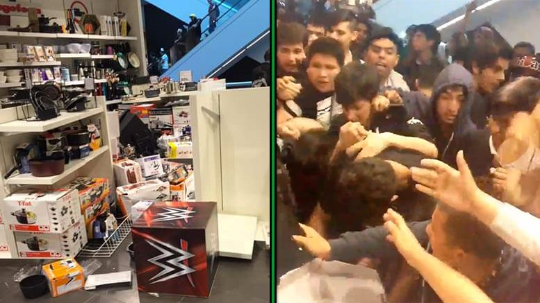 signing seth rollins looting rioting riot loot chile mall signing autograph wwe wrestling wrestling