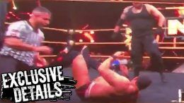 concussion nxt taping anthony bowens wrestling wrestler authors of pain video