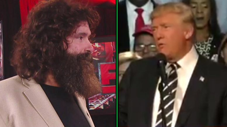 donald trump mick foley election wrestler hillary clinton begs voters wwe hall of fame general manager voting