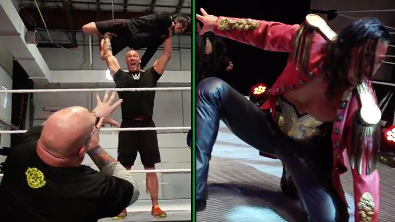 mannequin challenge nxt wrestlers video viral craze