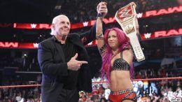 sasha banks ric flair women's championship win raw wrestling wwe charlotte