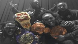 kofi kingston black excellence photo new day xavier woods big e sasha banks rich swan wwe wrestler wrestlers