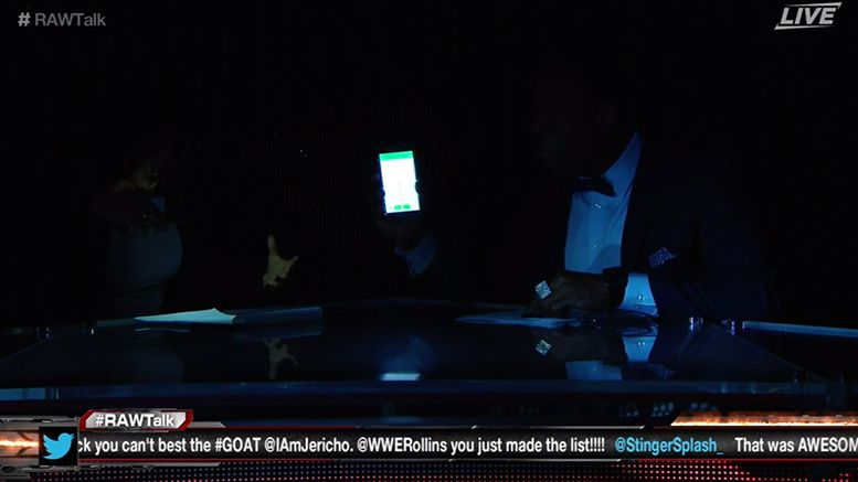 roadblock power cuts out video post show wrestling wwe pay per view booker t