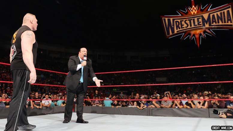 rematch brock lesnar goldberg wrestlemania