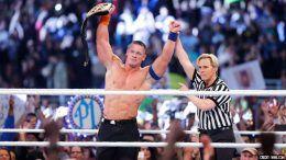 ric flair john cena tied tie title win championship royal rumble video