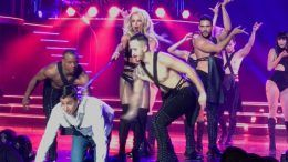 justin roberts britney spears las vegas video