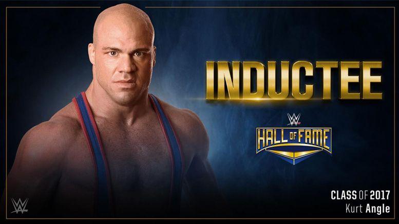 kurt angle wwe hall of fame wrestling wrestler wrestlemania royal rumble
