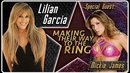 mickie james lilian garcia making their way to the ring smackdown live return la luchadora