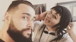 rusev new look hair haircut wwe wrestler lana