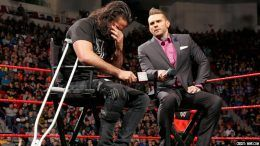 wrestlemania seth rollins injury status raw video