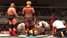 honma injured botched ddt new japan pro wrestling