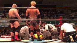 honma injured botched ddt new japan pro wrestling