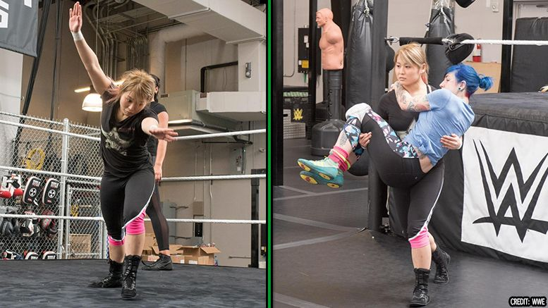 io shirai wwe tryout photos wes brisco nxt performance center